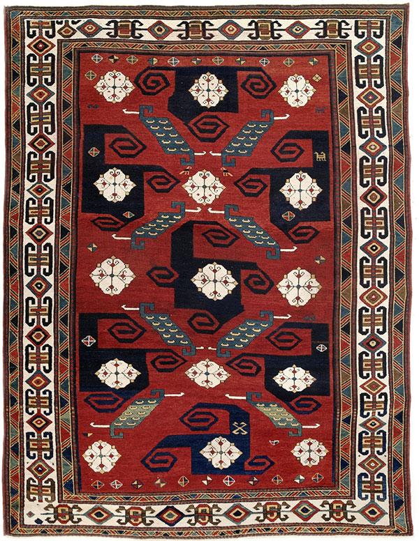 Pinwheel Kazak rug, Nagel
