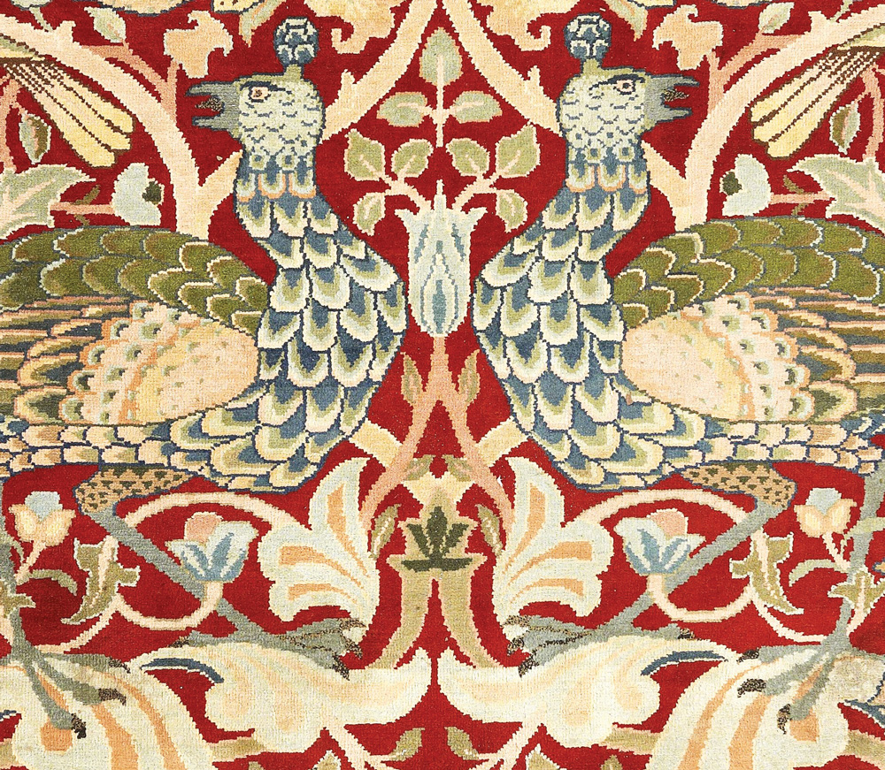 Handknotted carpet by William Morris