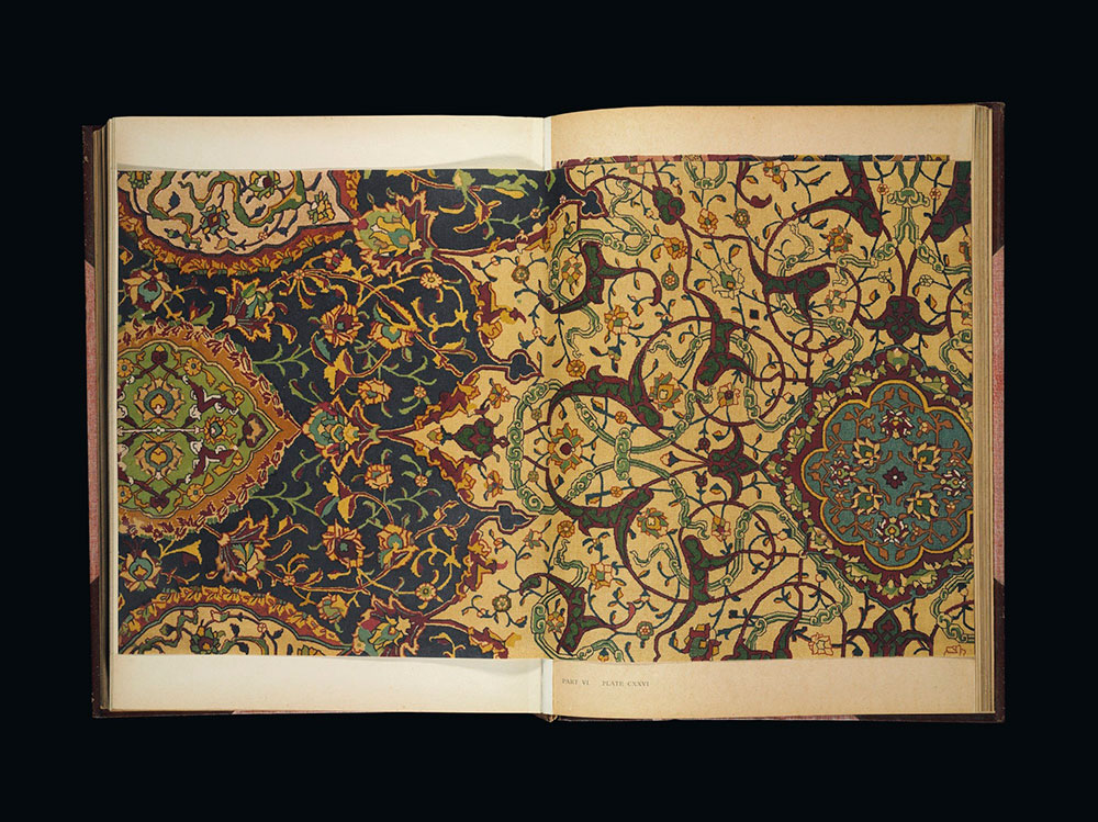 Lot 1, Thomas H. Hendley: Asian Carpets, XVI and XVII Century Designs from the Jaipur Palaces, estimate £1,500-2,000, Christie's