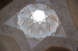 Dome of an old hamam in Yazd