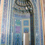 The tiled mihrab of the Jameh Mosque in Yazd