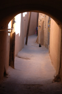 Alleyways in the Old Town in Yazd