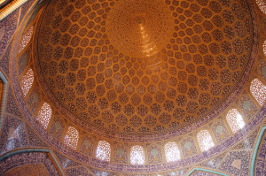 "The ""peacock"" dome of the Lotfollah Mosque in Naqsh-e Jahan (Imam Square) in Esfahan"