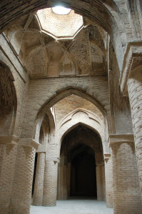 The oldest part of the Masjedeh Jomeh (Friday mosque), Esfahan