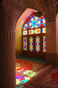 "The Nasīr al-Mulk or ""Pink"" Mosque in Shiraz"