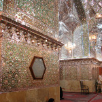 Mirrored interior of the Ali Ibn Hamza shrine in Shiraz