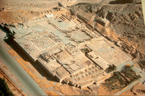 Aerial shot of Persepolis (from the National Museum of Iran,  Tehran)