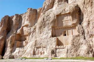 Tombs of Darius and Xerxes, south of Shiraz