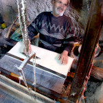One of the last of the hand-weavers, working in underground caves in Kashan