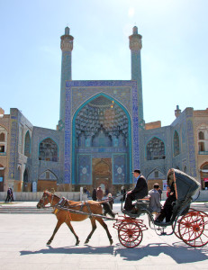 Main entry of Esfahan's Masjed-e Imam Mosque in Naqsh-e Jahan (Imam Square)