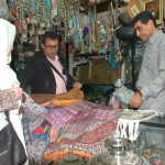 Vedat finds a dealer of old textiles in the Shiraz Bazaar