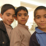 Schoolboys visiting the National Museum of Iran