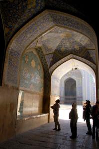 "Inside the Masjed-e Imam ""Blue"" Mosque of Esfahan"