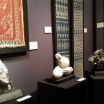 Agata Fine Crystals and Samyama exhibiting fine crystals and minerals with fine antique textiles of Southeast Asia