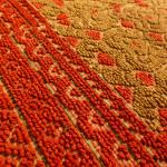 Alpujarra rug (detail), linen, Museo de las Artes Decorativas, Madrid