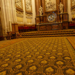 Cuenca carpets in Cuenca Cathedral