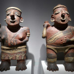 Pair of terracotta figures, Nyarit, Mexico, 100 BC - 250 AD, Galerie Mermoz