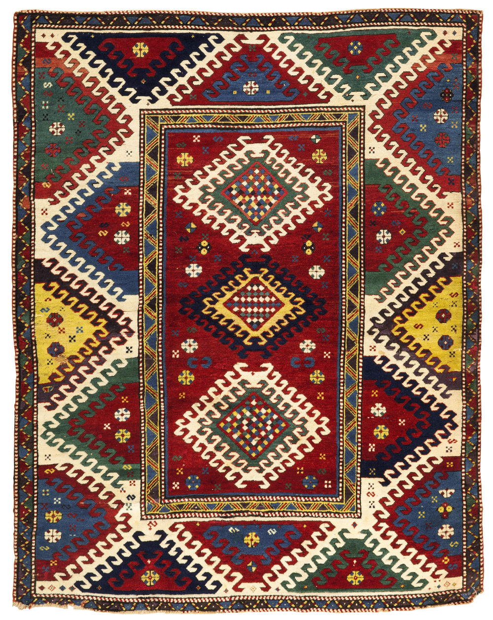 Lot 49, A Bordjalou Kazak rug, West Caucasus, Sotheby's