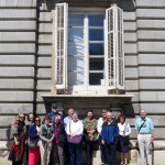 The HALI Tour group outside the Palacio Royale de Madrid