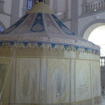 Indian Mughal tent with original interior panels dating to 1535, Museo del Ejército, Toledo