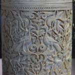 Zamora Pyxis, ivory, 353 after Hijra (964), Museo Arqueológico Nacional, Madrid