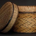 Basket,  19th century, inventoried 1897, Cabinda, Angola, Kongo peoples, Fiber, wood, pigment, H. 8 5/8 in. (22 cm), Diam. 8 5/8 in. (22 cm), Museu da Ciência da Universidade de Coimbra, Portugal