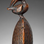 Prestige Bell With Bird, 19th century, Kongo peoples,  Wood; Overall: 5 1/4 × 2 1/2 × 1 7/8 in. (13.3 × 6.4 × 4.8 cm), The Metropolitan Museum of Art, New York, Private Collection (TR.326.2a, b.2014)
