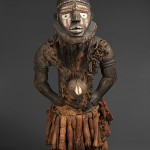 Power Figure (Nkisi N'Kondi: Mangaaka), 19th century, inventoried 1912, Chiloango River region; Republic of the Congo; Angola, Cabinda, Kongo peoples, Yombe group, Wood (Vitex thonneri De Wild.), iron, resin, cowrie shell, animal hide and hair, ceramic, plant fiber, textile, pigment, H. 52 in. (132 cm), W. 19 1/4 in. (49 cm), D. 13 3/4 in. (35 cm). Royal Museum for Central Africa, Tervuren, Belgium