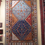 Qashqa'i gabbeh carpet with elements of  kilim design, Brian Macdonald