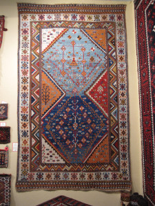 Qashqa'i gabbeh carpet with elements of  kilim design, Brian Macdonald
