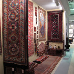 Brian Macdonald whose stand includes a Memling gul Genje runner and a number of tribal rugs from southern Iran