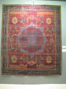 Jan Kath Erased Heritage carpet with Mamluk design and silk highlights, Chris & Angela Legge