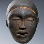Mask, 19th–early 20th century, Republic of the Congo; Cabinda, Angola, Kongo peoples; Yombe group, H. 9 in. (22.9 cm), W. 6 5/8 in. (16.8 cm), D. 4 1/8 in. (10.6 cm), Credit Line: Kimbell Art Museum, Fort Worth