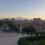 View of Mount Ararat from the Cascade Complex, Yerevan, Armenia