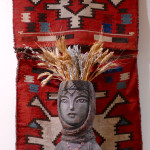 Flatwoven storage bag, Folk Art Hub Foundation at the Silk Road Hotel, Yerevan, Armenia