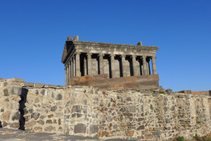 The Temple of Garni, a reconstructed Hellenistic building and symbol of pre-Christian Armenia, Kotayk Province, Armenia