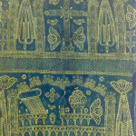 Resist dyed indigo altercloth, made in India for the Armenian Church, Holy Mother See, Etchmiadzin, Armenia