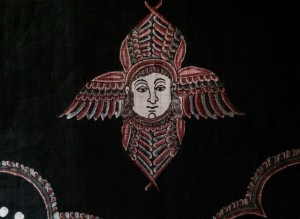 Resist dyed cotton altar hanging (detail), made in India for the Armenian church, 18th century, Holy Mother See, Etchmiadzin, Armenia