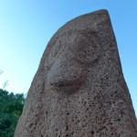 Vishap dragon stone, Sardarapat, Armenia