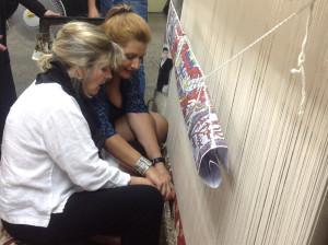 Tatev Murdyan demonstrates weaving at Megerian Carpets, Yerevan, Armenia