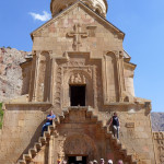 The HALI Tour group at a unique two-storey church, 13th - 14th century, Noravank Monastery, Armenia