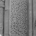 Stone carving showing geometric interlacery, Noravank Monastery, Armenia