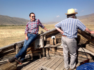 Ben Evans and Joss Graham aboard CILICIA