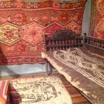Room set showing use of felt and rugs in an early 20th century rural Armenian home, Museum of Ethnography & Carpets, Gavar, Armenia