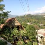 Alpine style wooden buildings, Dilijan, Tavush province, Armenia