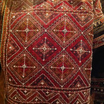 Embroidered folk costumes (detail), State Museum of Folk and Applied Arts, Tbilisi, Georgia