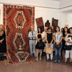 Tatev Muradyan, curators and guests at the special textile exhibition, Folk Art Museum, Yerevan, Armenia