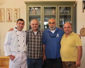 Chef Yura Sargsyan, Tour Guide Vladimir Grigoryan, Captain of CILICIA Karen Balayan and HALI Tour driver Sargis