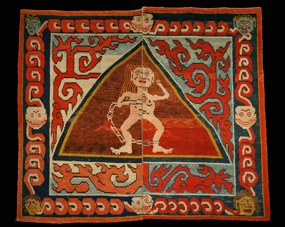 Carpet of Flayed Women. (c) Collection Anthony D'Offay, courtesy Rossi and Rossi. Features in Tibet's Secret Temple: Body, Mind and Meditation in Tantric Buddhism.