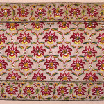 Late Mughal floss silk on cotton panel, ca.1820. Thomas Cole, 'Don't Miss India!'